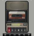Cassette recorder template vector