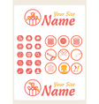 Retro vintage knit web icons vector