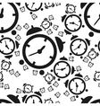 Alarm clock seamless pattern vector