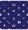 Navigation icons pattern eps10 vector