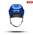 Classic blue hockey helmet isolated on background vector