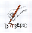 Hand drawing on paper vector