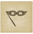 Masquerade mask symbol old background vector