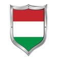 Hungary flag button vector