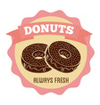 Sweet donuts vector