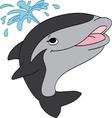 Smiling killer whale vector