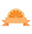 Orange slice with paper banner vector