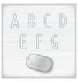 Metallic latin alphabet vector