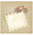 Retro background with bicycle vector