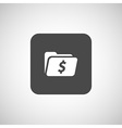 Shopping dollar folder file icon internet symbol vector