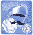 Baseball lover vector