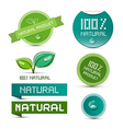 Natural product green labels - tags - stickers set vector