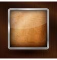 Wooden icon vector