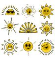 Cartoon sun designs vector