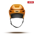 Classic orange hockey helmet isolated on vector