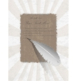 Ancient egyptian parchment with pen vector