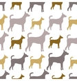 Animal seamless pattern of dog silhouettes endless vector