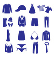 Clothing icon set eps10 vector