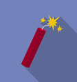 Icon of dynamite with sparkles flat style vector