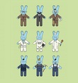 Blue bunnies vector