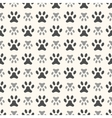 Seamless animal pattern of paw footprint endless vector