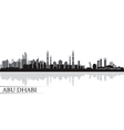Abu dhabi city skyline silhouette background vector
