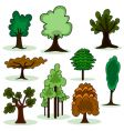 Cartoon style tree vector