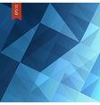 Abstract triangles background blue vector
