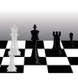 Black and white pieces of chess vector