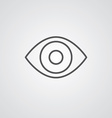 Eye outline symbol dark on white background logo vector