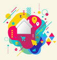 House on abstract colorful spotted background with vector