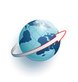 Earth and arrow around it vector