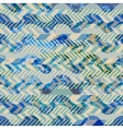 Patchwork of striked patches and grunge waves vector