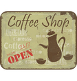 Sign pattern for coffee shop vector