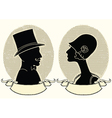 Man and woman portraits vector