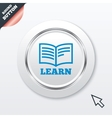 Learn book sign icon education symbol vector
