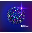 Abstract glitterball vector