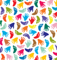 Colorful feet and hands vector