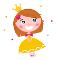 Cute princess vector