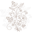Floral design grassy ornament vector