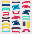 Colorful and decorated paper banners vector
