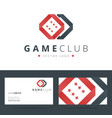 Game club or casino logo template with business vector