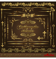 Gold calligraphic vector