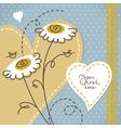 Scrapbook floral background vector