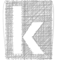 Freehand typography letter k vector