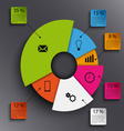 Info graphic with abstract round graph template vector