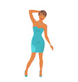 Beautiful girl dancing isolated vector