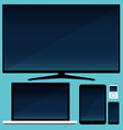 Lcd tv smartphone and tablet and laptop vector