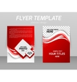 Abstract flyer template design vector