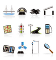 Road and travel icons vector